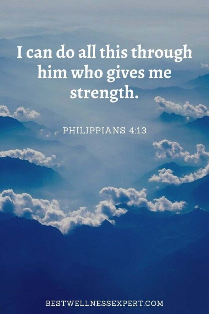 I can do all this through him who gives me strength.