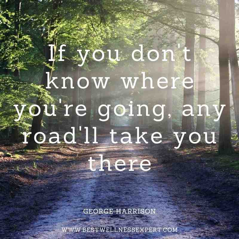 If you don't know where you're going, any road'll take you there