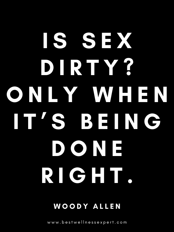 Is sex dirty? Only when it's being done right.