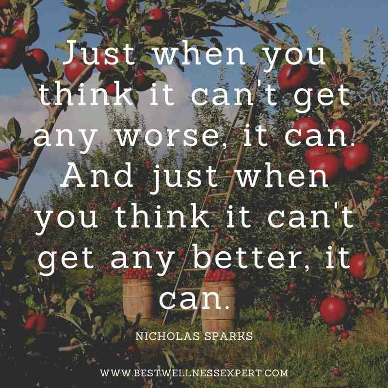 Just when you think it can't get any worse, it can. And just when you think it can't get any better, it can.