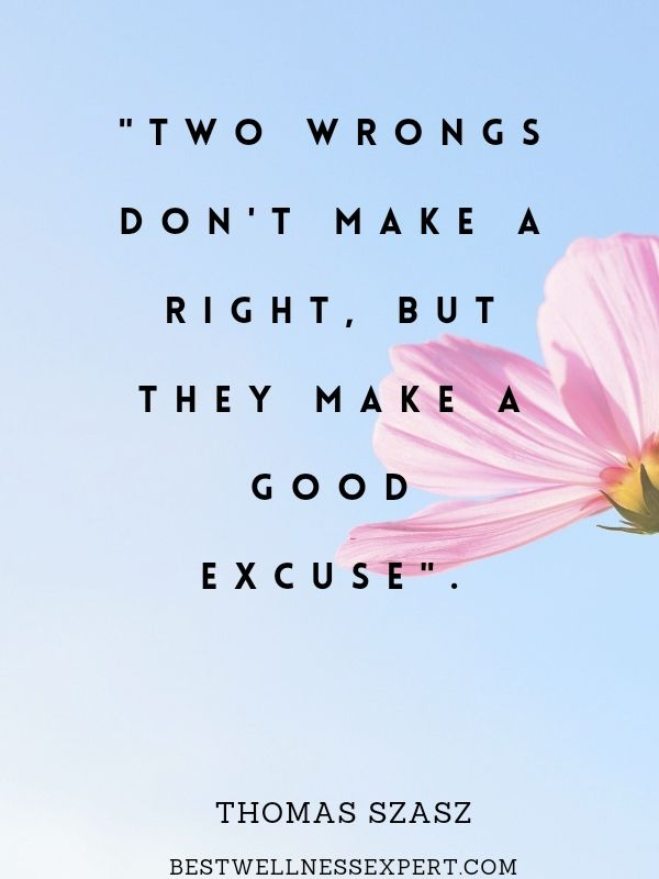 Two Wrongs don't make a right. But they make a good excuse
