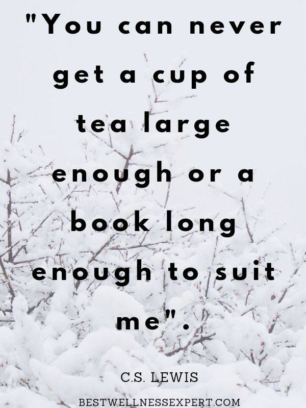 You can never get a cup of tea large enough or a book long enough to suit me.