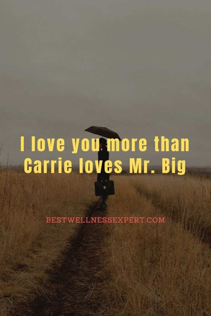 I love you more than Carrie loves Mr. Big