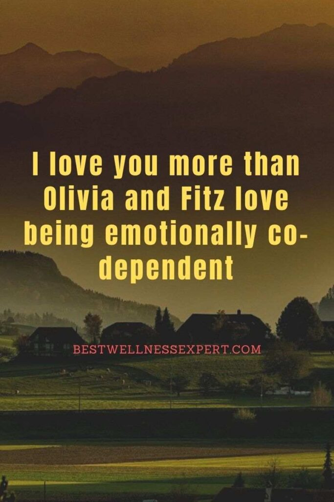 I love you more than Olivia and Fitz love being emotionally co-dependent