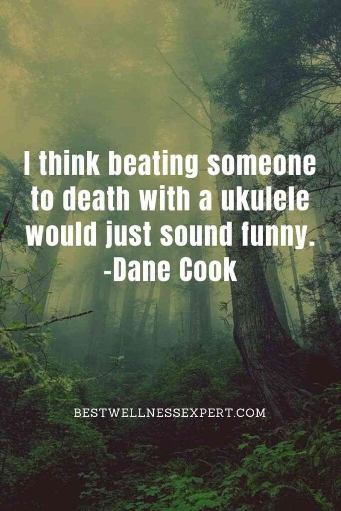 I think beating someone to death with a ukulele would just sound funny.